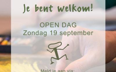 Open dag op zondag 19 september!